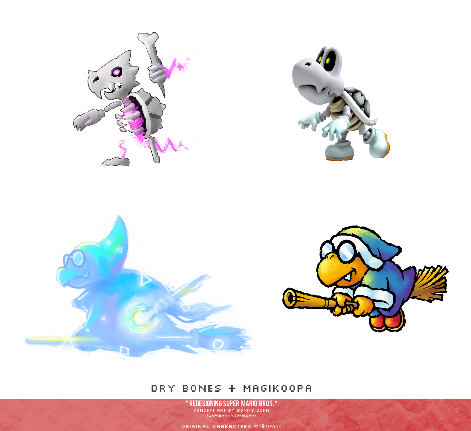 Dry Bones and Magikoopa Redesign Comparison.png