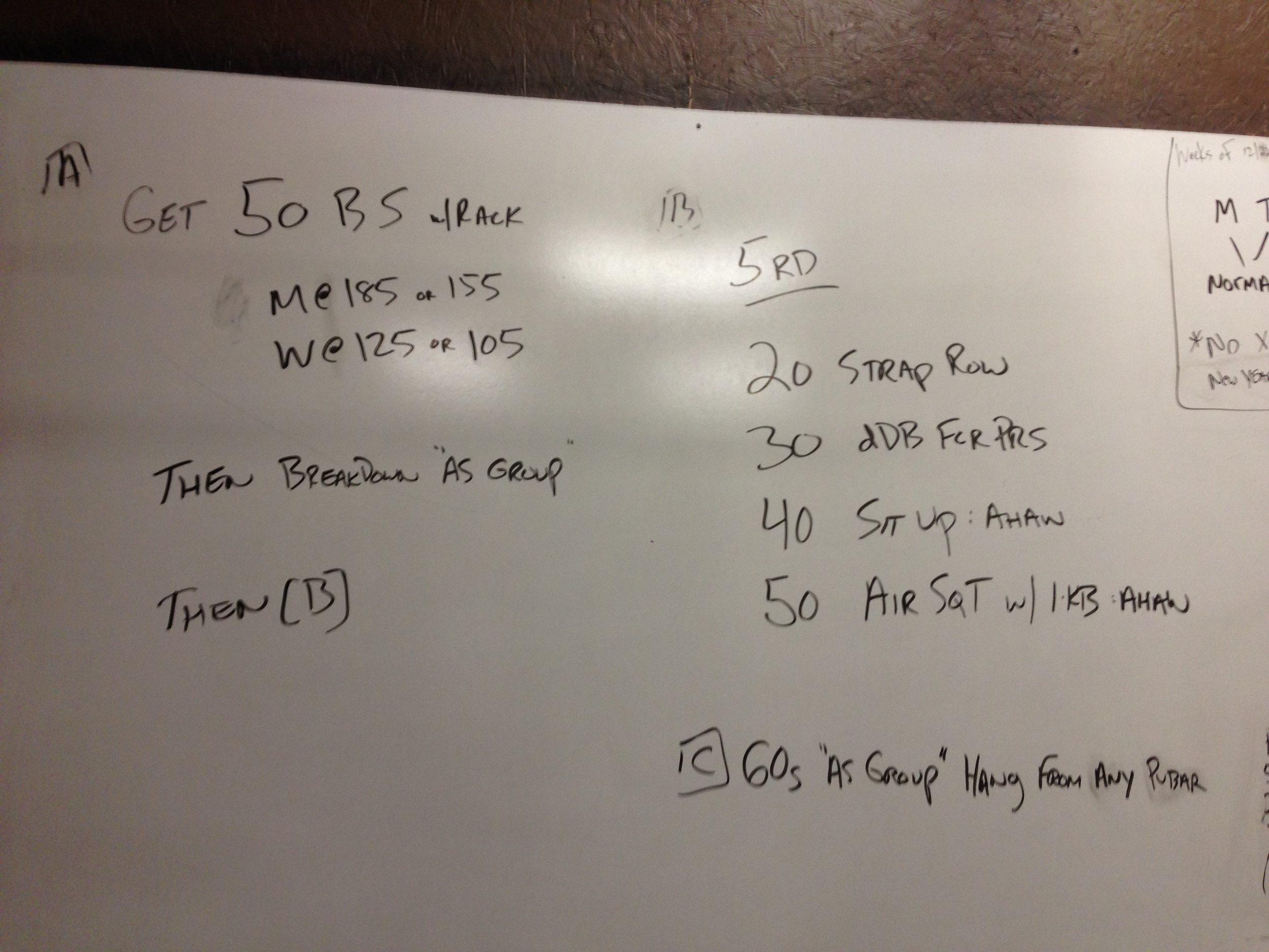 The fantabulous Christmas Eve workout - turns out 50 is a large number.