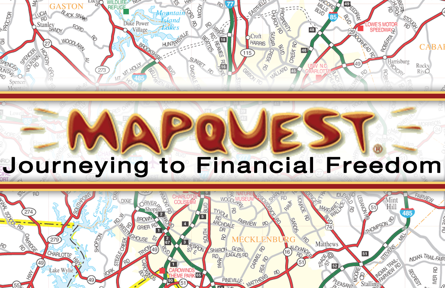 MapQuest: Journeying to Financial Freedom — The Grounds Bookstore on yahoo! maps, bing maps, google maps,
