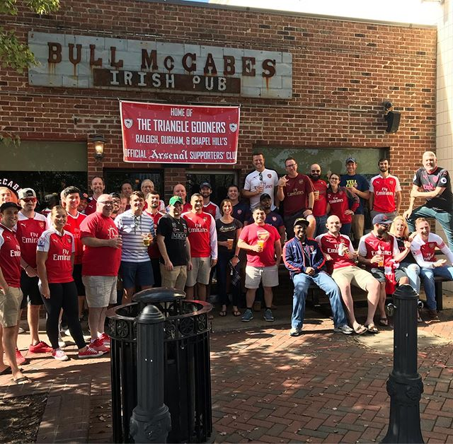 This time tomorrow, @bullmccabesdnc will be opening its doors for the Triangle Gooners for the first time this season! Let's gooooooooo!!!!
