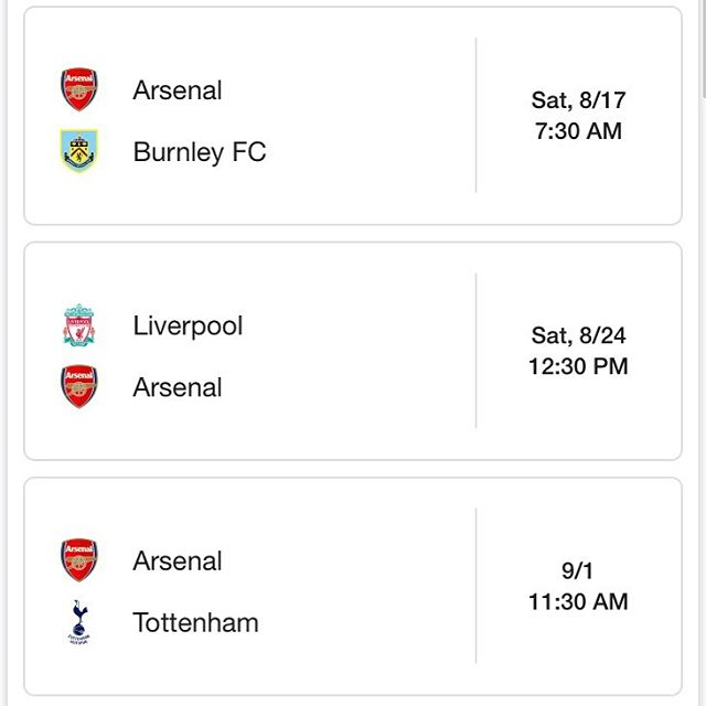 In order to get these sweet lunchtime kickoffs for Anfield and The Derby, we have to pay a 7:30 AM tax. See you at @bullmccabesdnc this Saturday for Arsenal v Burnley! Doors open at 7:00 AM. 