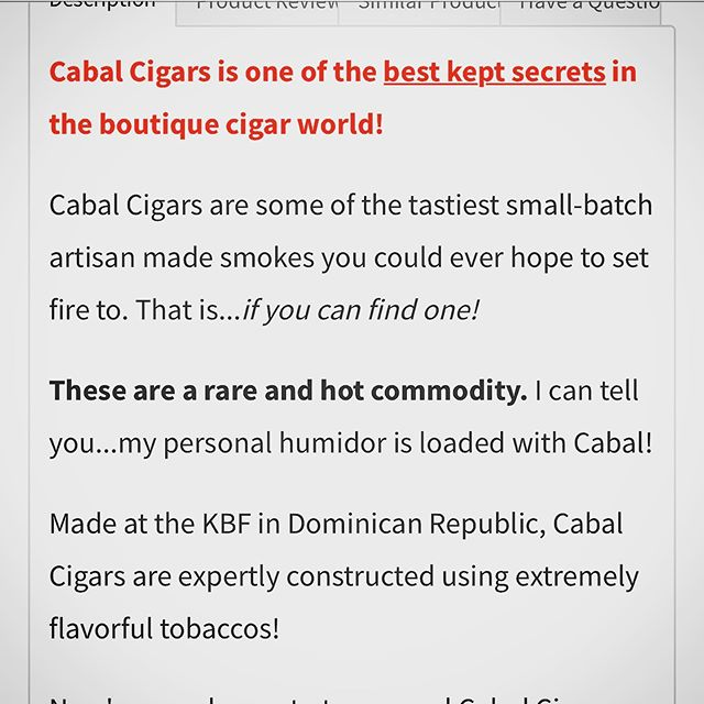 Looking for a hot deal on some cool cigars. Ours! @cigarfederation is too kind and helping us spread the word of Cabal. #craftnotcrap #enjoytheburn