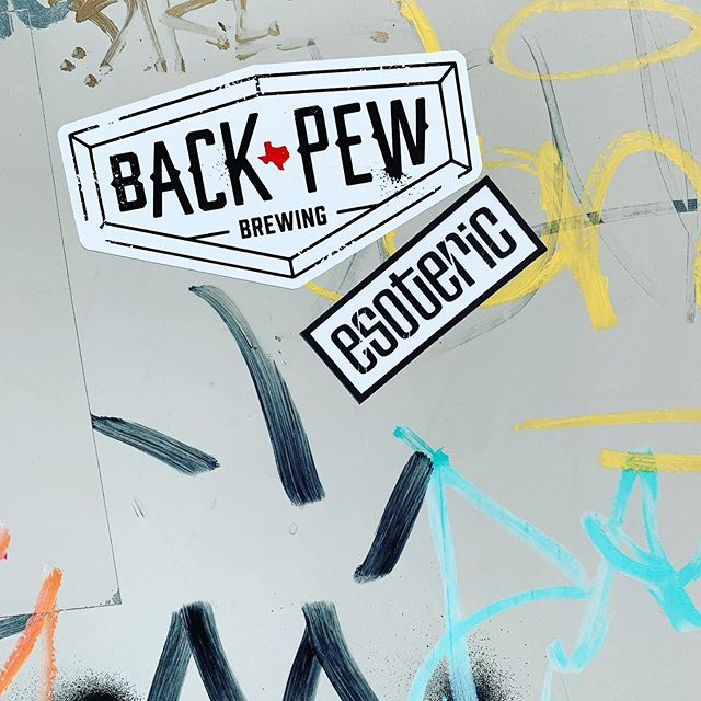 New stickers out in the wild. @backpewbrew knows what's up #eado