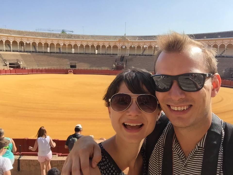 We're iffy on the ethics of bullfighting, but it's an undeniably fascinating history. We passed on a bullfight, and instead toured Sevilla's bullring (with the offical title: Plaza de Toros de la Real Maestranza de Caballeria de Sevilla) and visited the museum.
