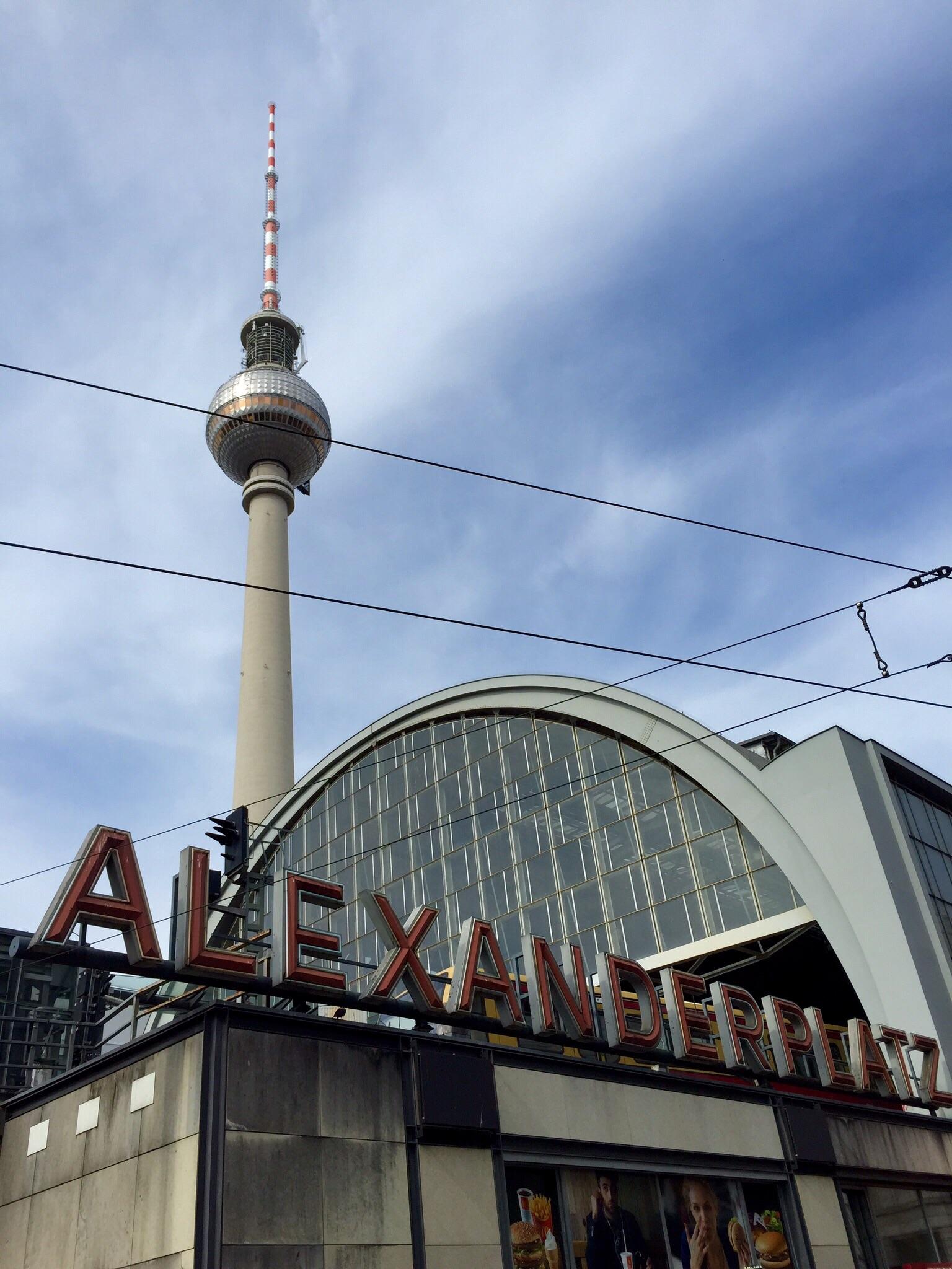 The TV Tower at Alexanderplatz.