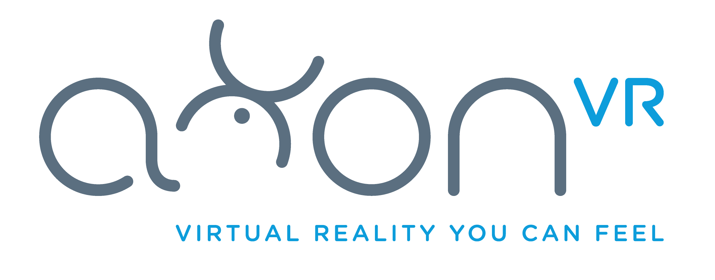 """The AxonVR logo, designed by  Yuri Shvets . Our engineering team dubbed the humanoid """"X"""" figure """"Axley."""""""