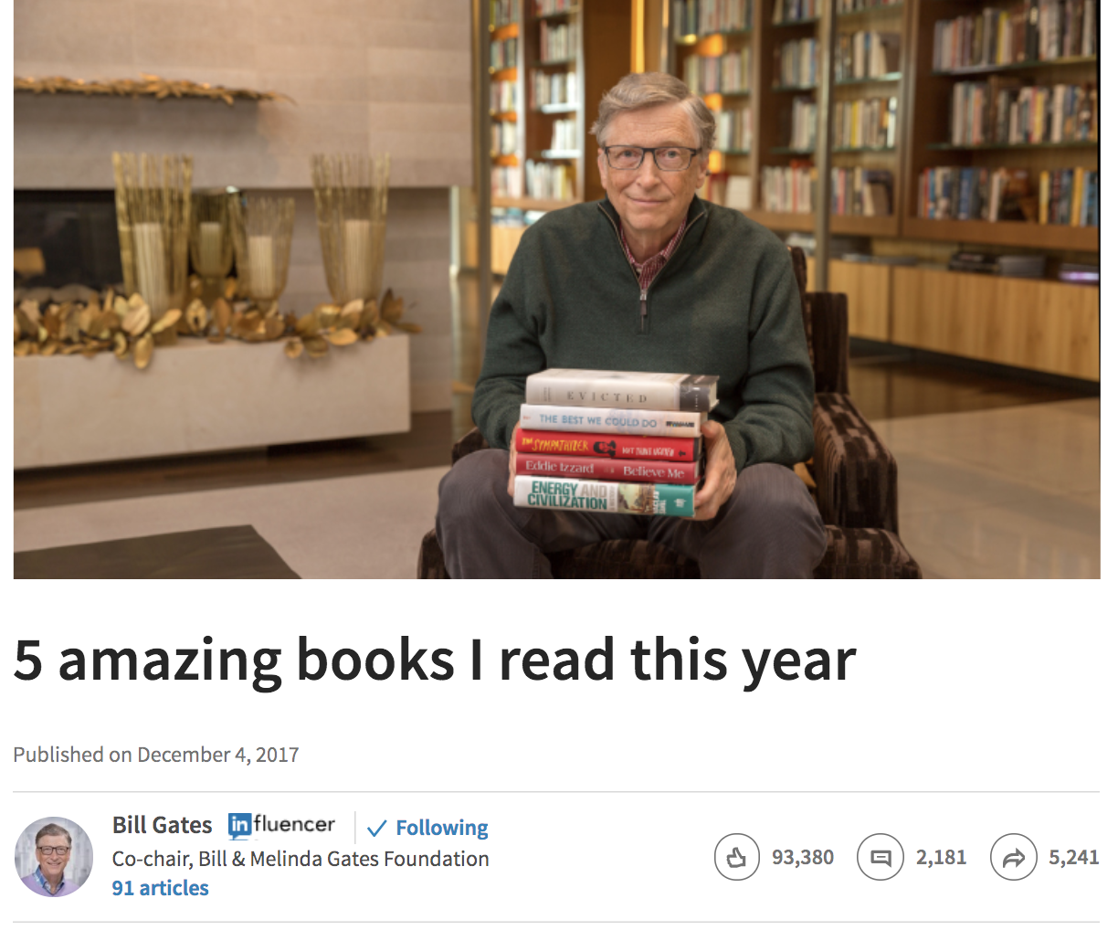 If Bill Gates can find time to read books, so can you.