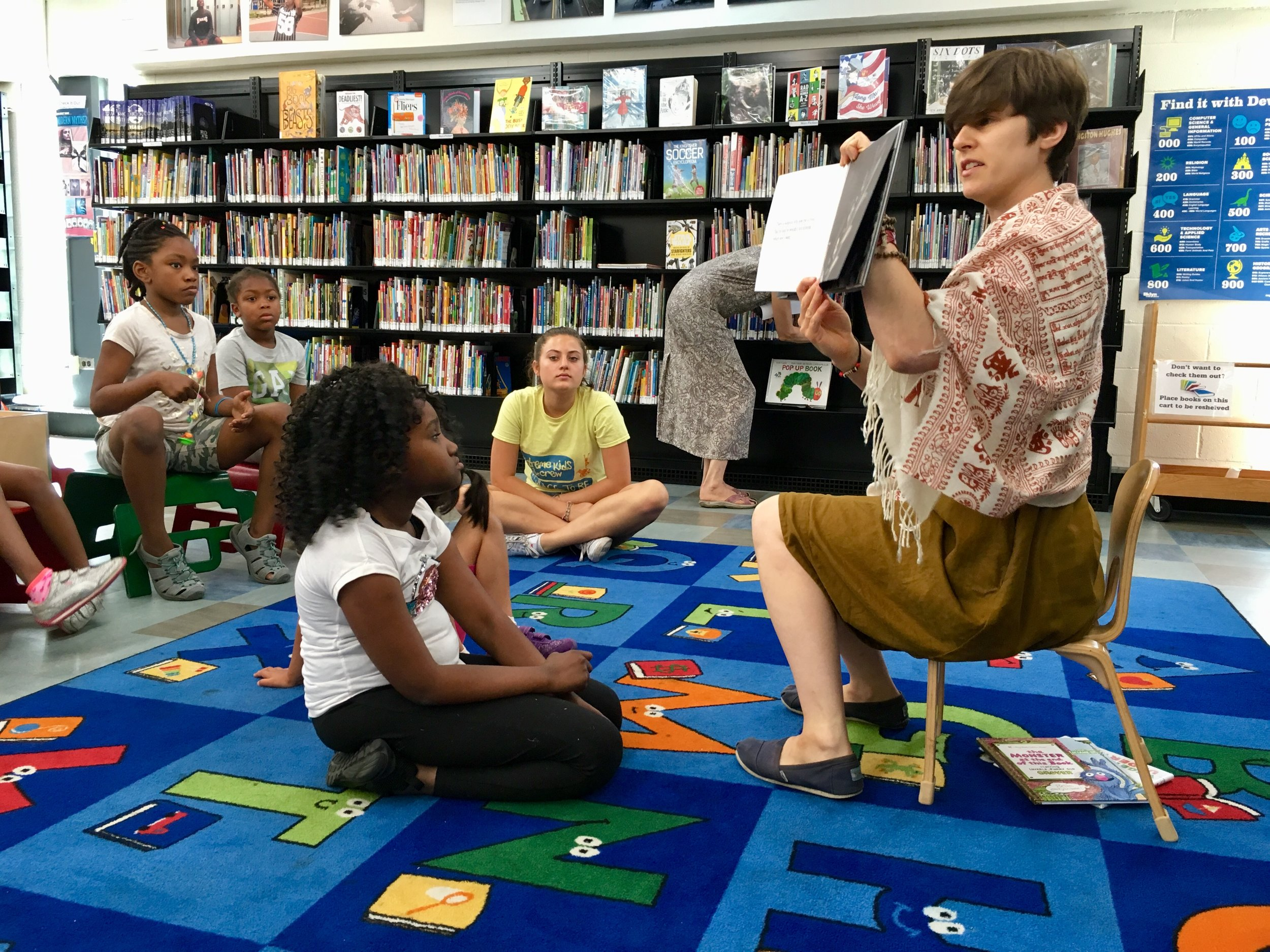 Storytime at the library.