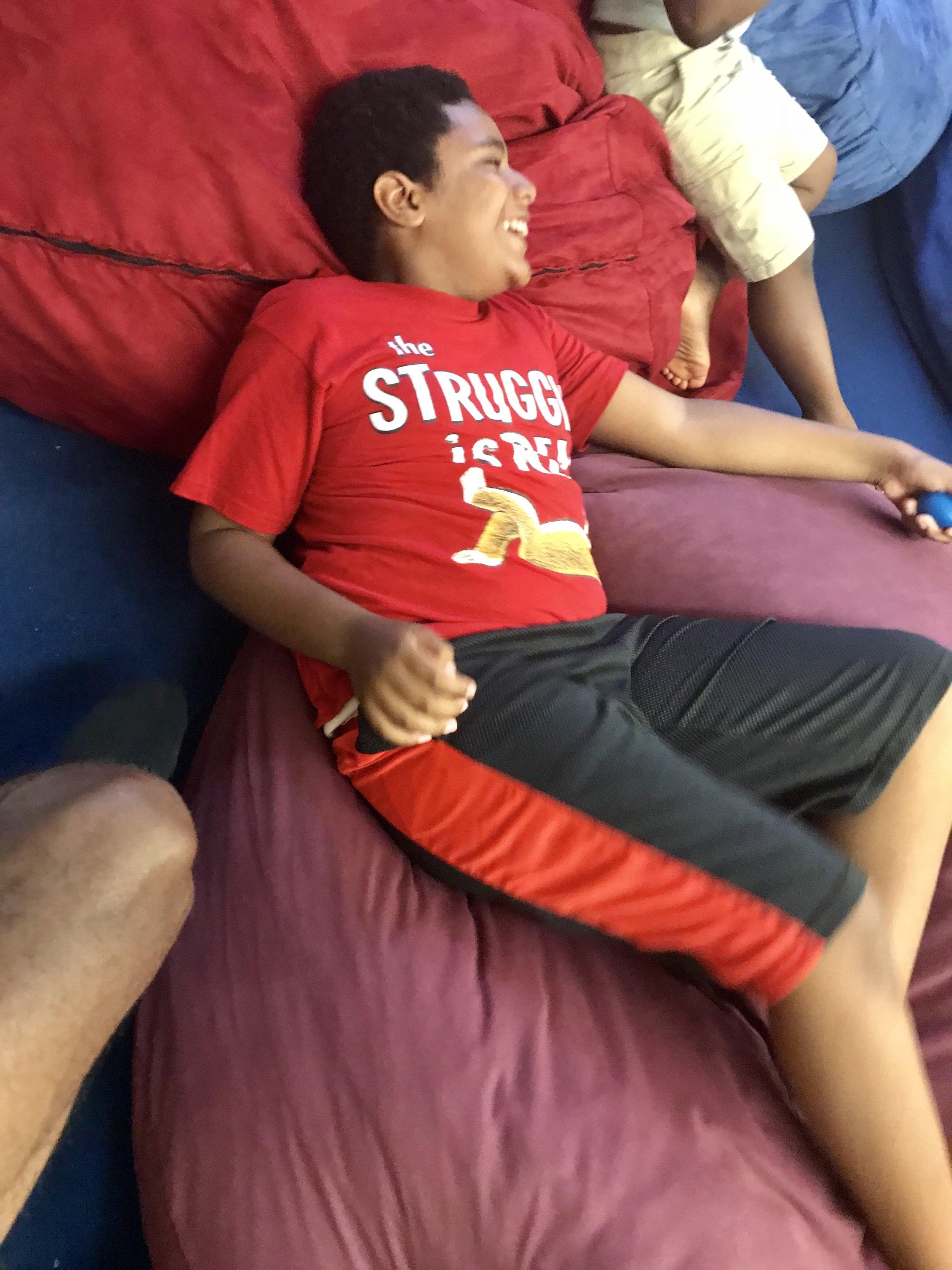 Day at summer camp.
