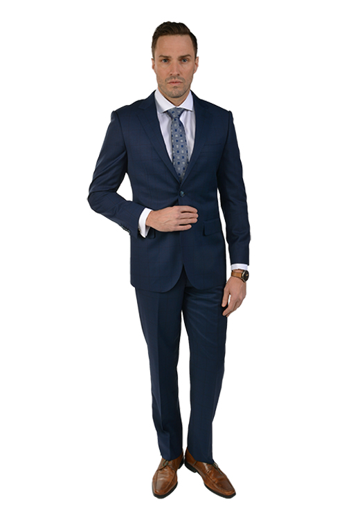 Bresciani Navy Windowpane SuitB-18P4$795.00 USD.png