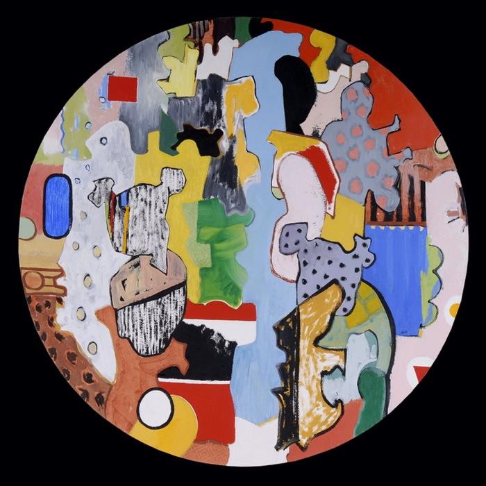 "Mondrian's Toys, 36"" in diameter"