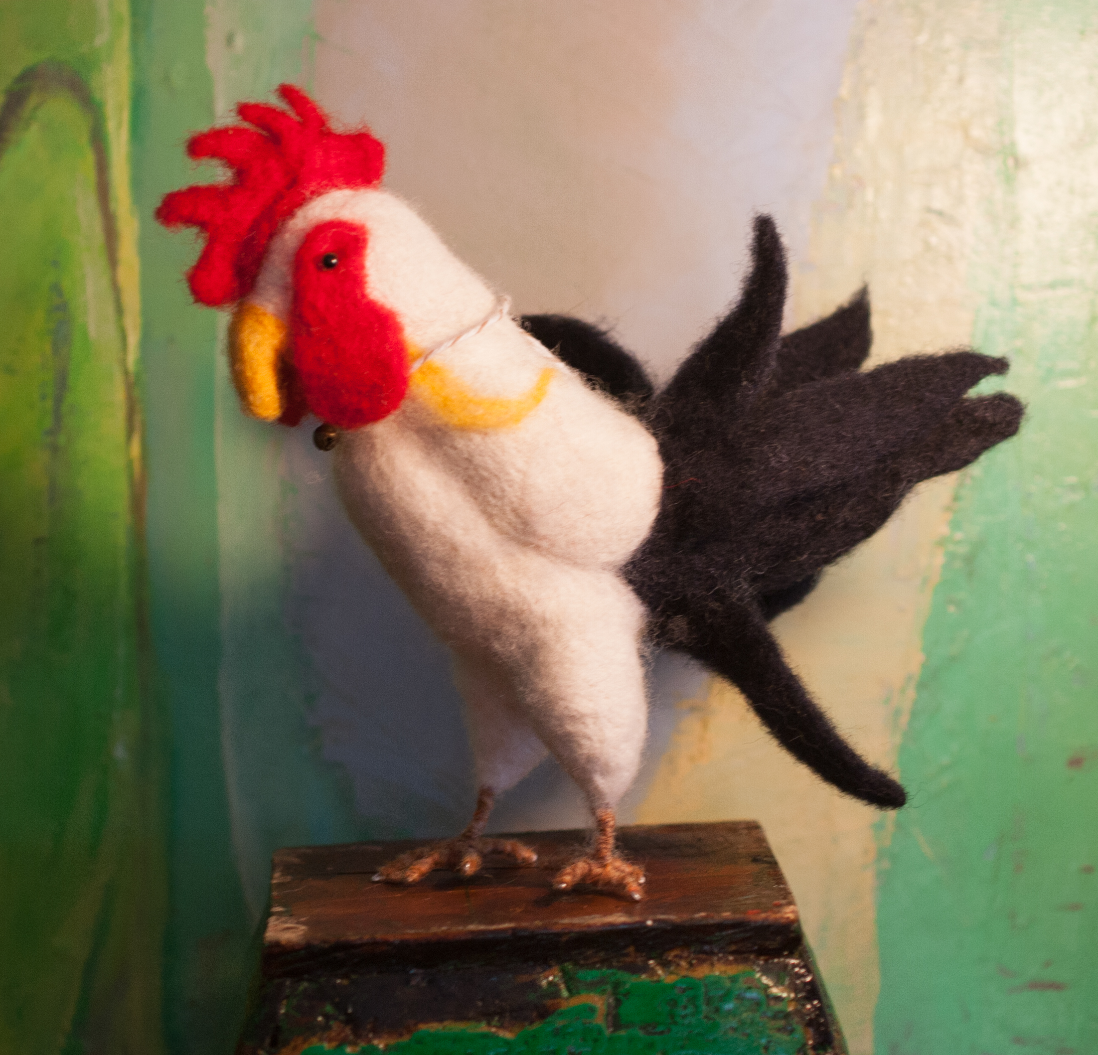 Danielle's acorns reminded me of the work of my lifelong friend, Lisa Ghriskey. Lisa is an amazing multimedia artist. If you are interested in seeing more of her beautiful felt animals you can contact me.