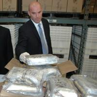 Viewing 220 kilos of cocaine seized by law enforcement