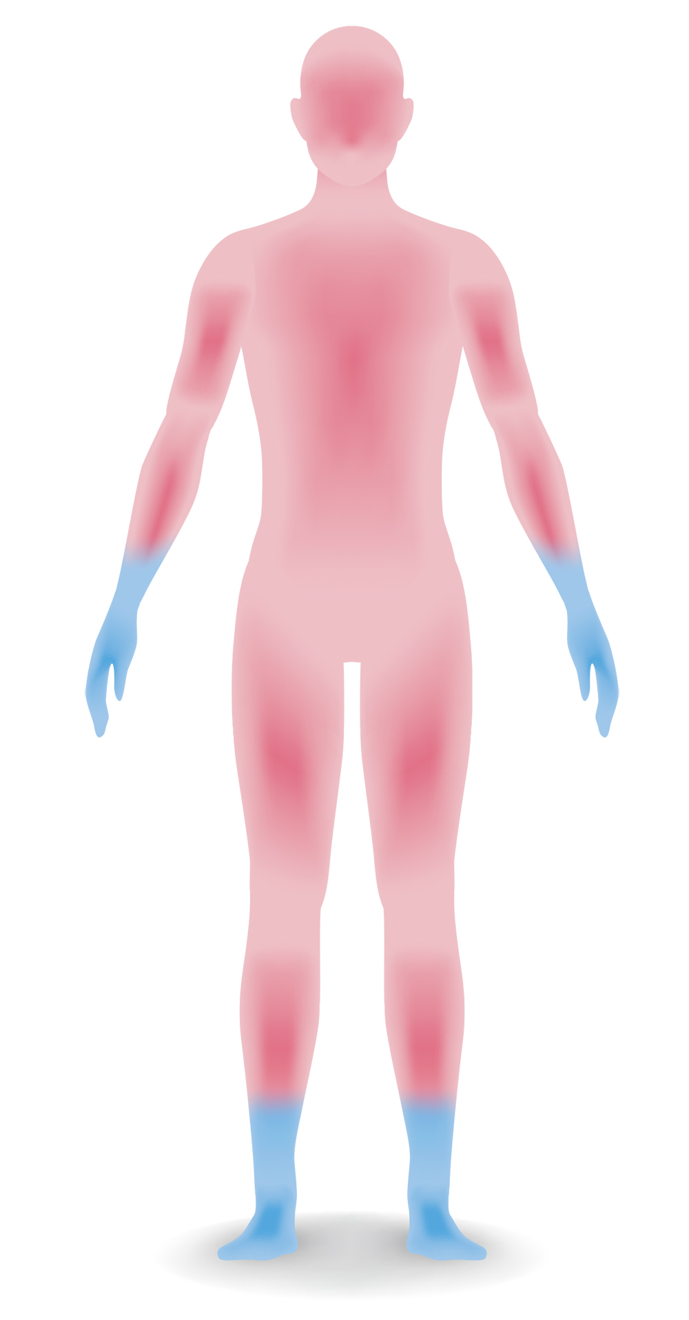 CLICK THIS — Using heat imaging, I created this pain diagram. Pink shows where it hurt. Blue shows which appendages almost froze off.