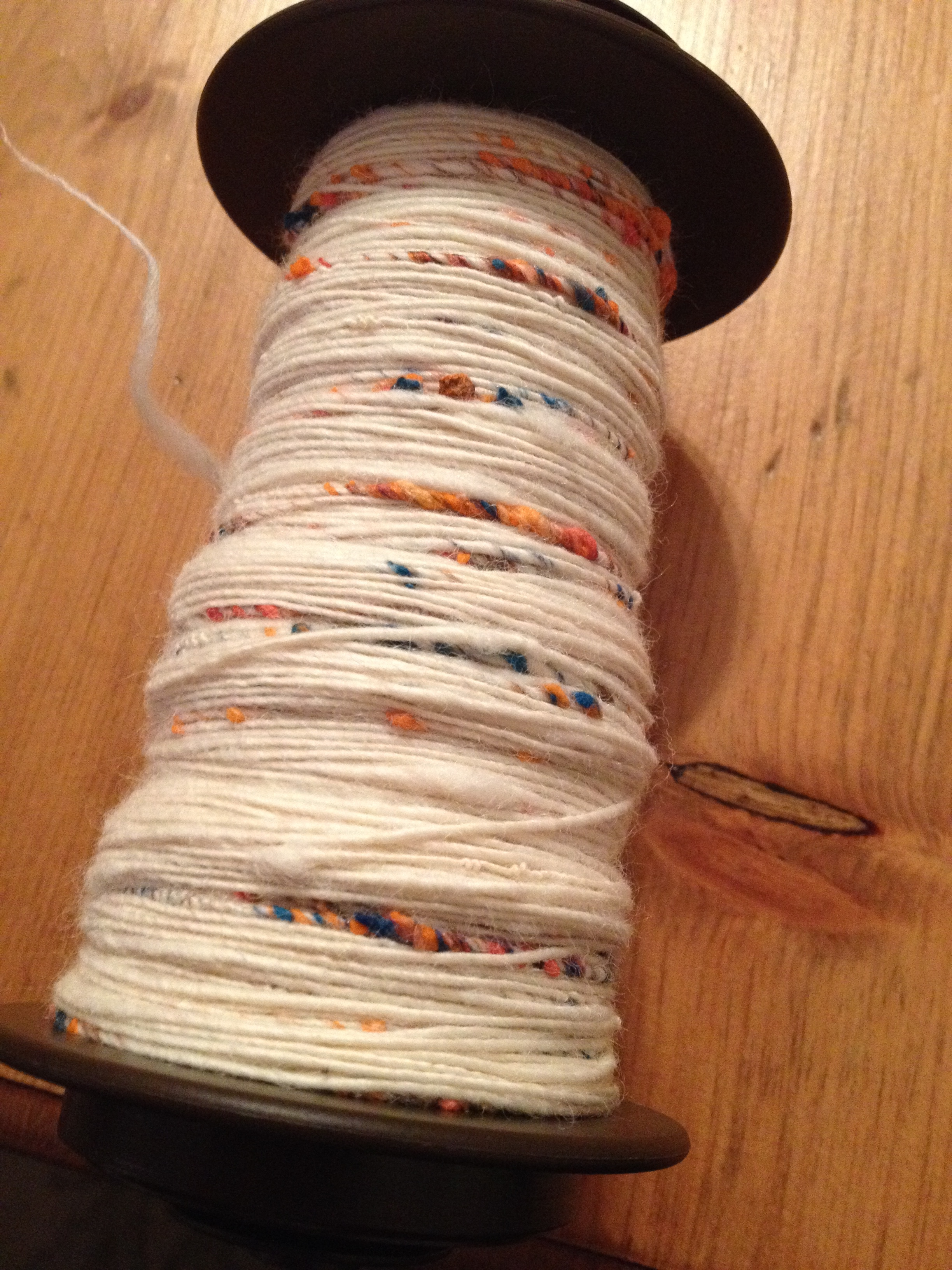 Day 5 - I finished the Sprinkle Yarn, and let it sit overnight before plying.