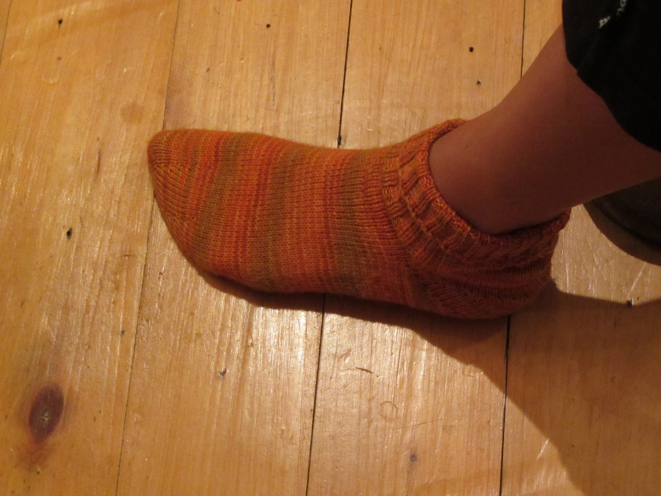Pumpkin Birthday Socks (Ravelry)