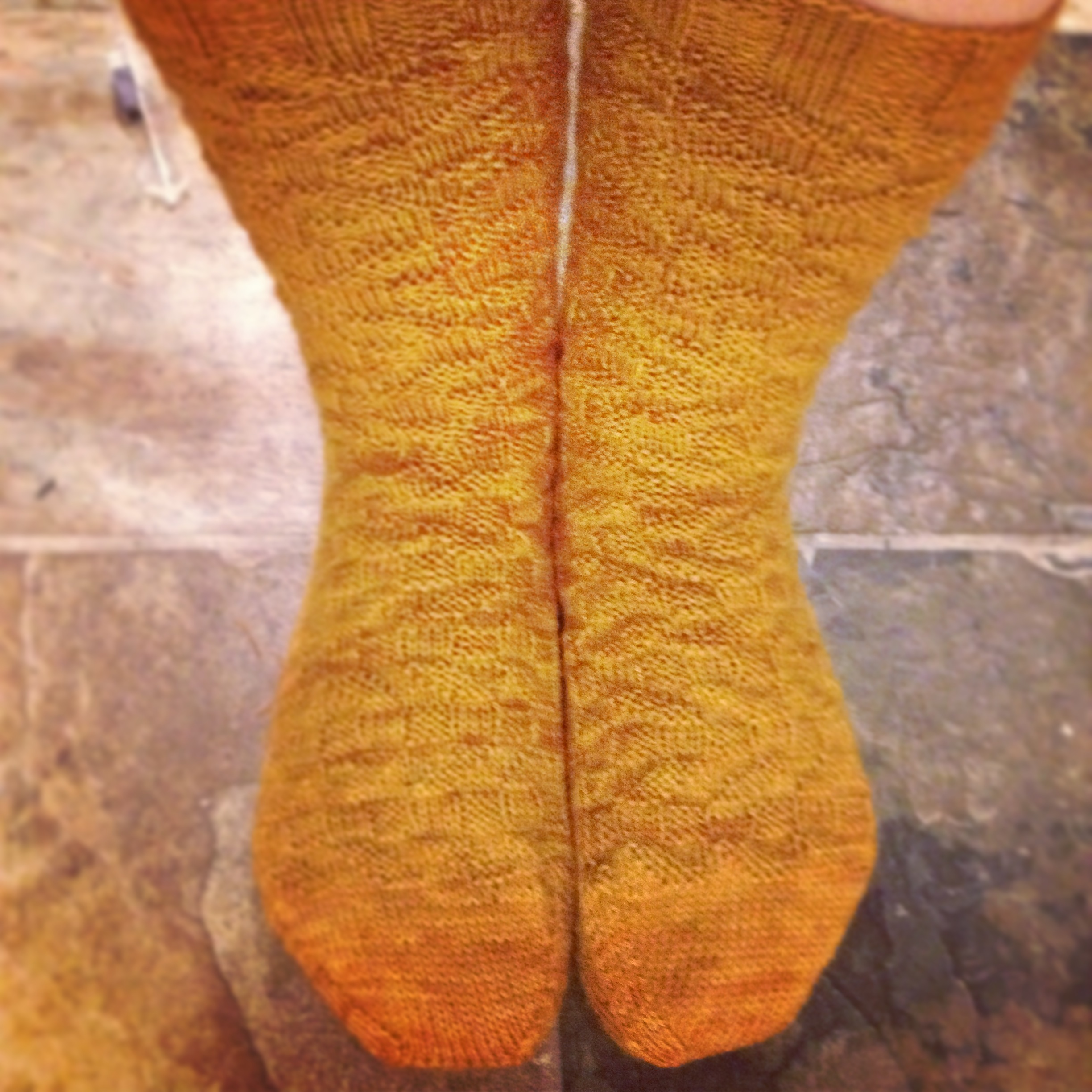 Squadron Socks by ME! in Kilcoursie Fingering, Almost Lichen (the skein that inspired the Lichen colorway)