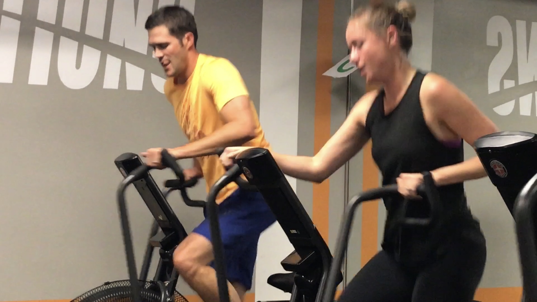 Improve cardiovascular strength on our fan bikes.