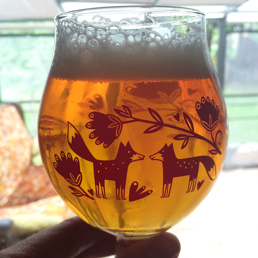 Wedding Beer Glass Design