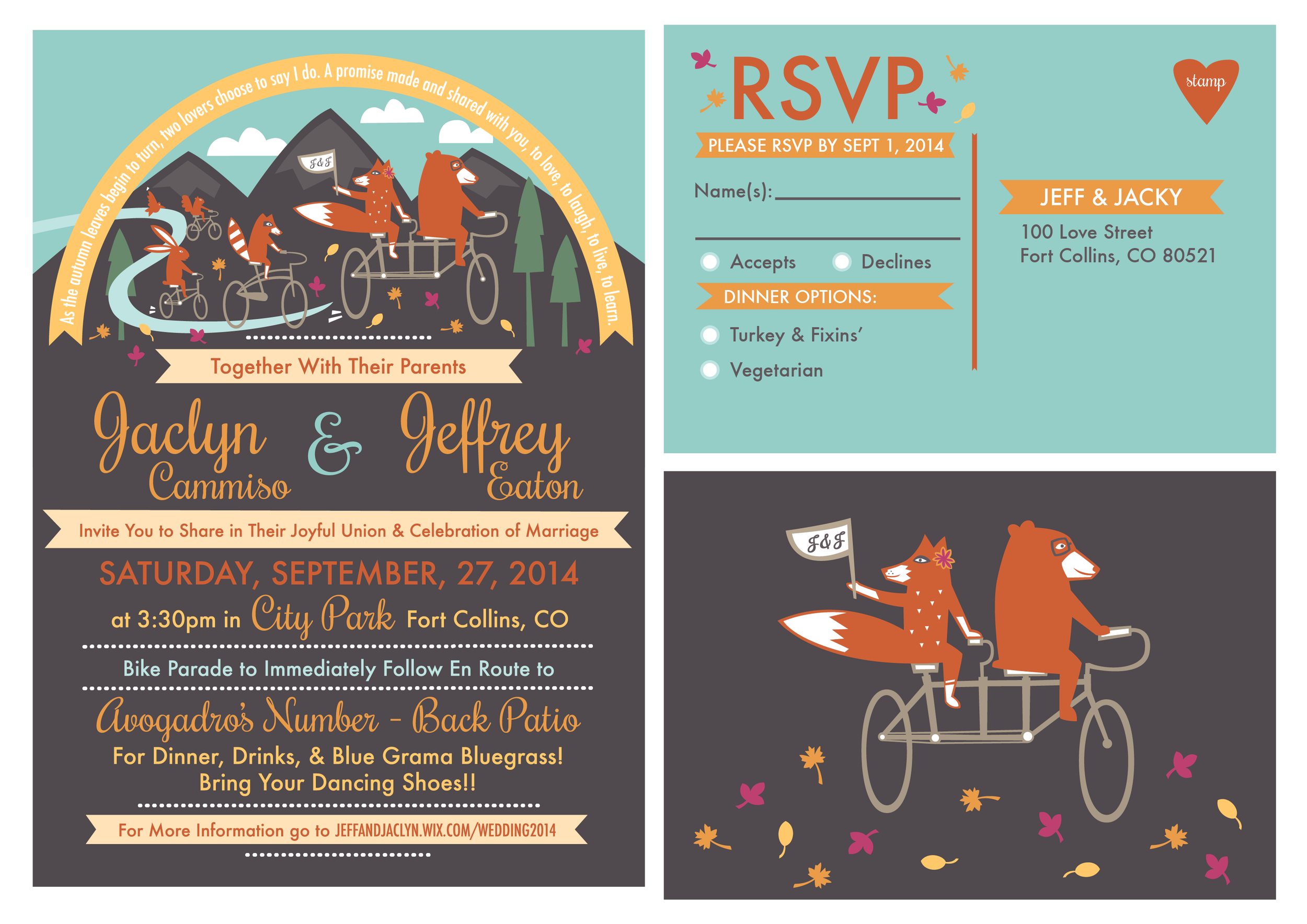 Custom Animal Parade Wedding Stationary