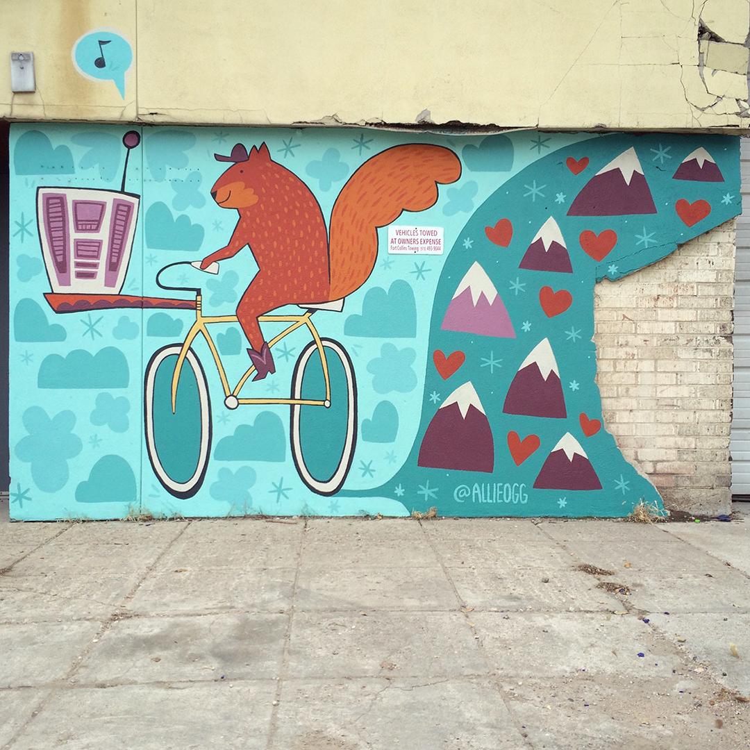 Squirrel Mural