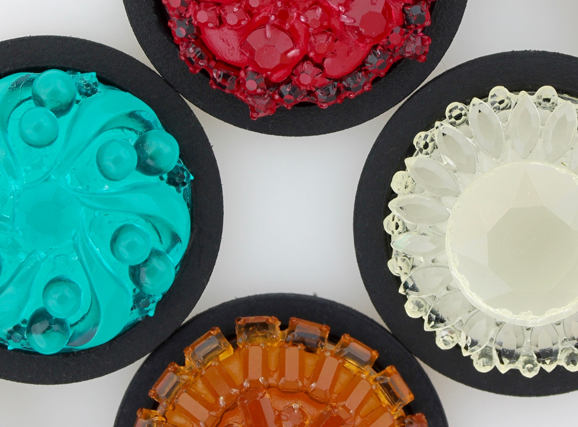 Brooch - ongoing series of cast resin pendants