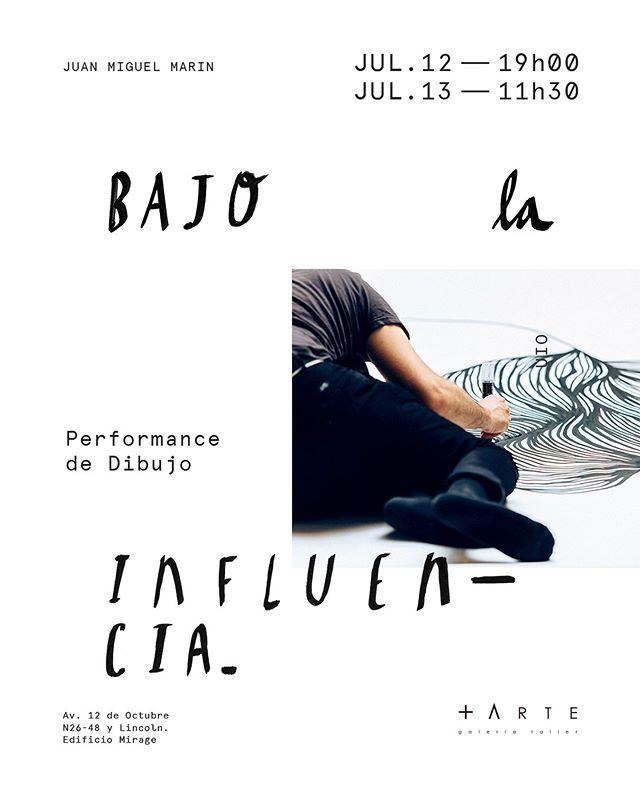 Dos sesiones de Dibujo performático esta semana en @masartegaleria — abiertas al público —Viernes 12 de Julio (19h00), y Sábado 13 de Julio (11h30).