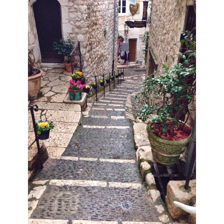 Village street in Saint Paul De Vence, France.