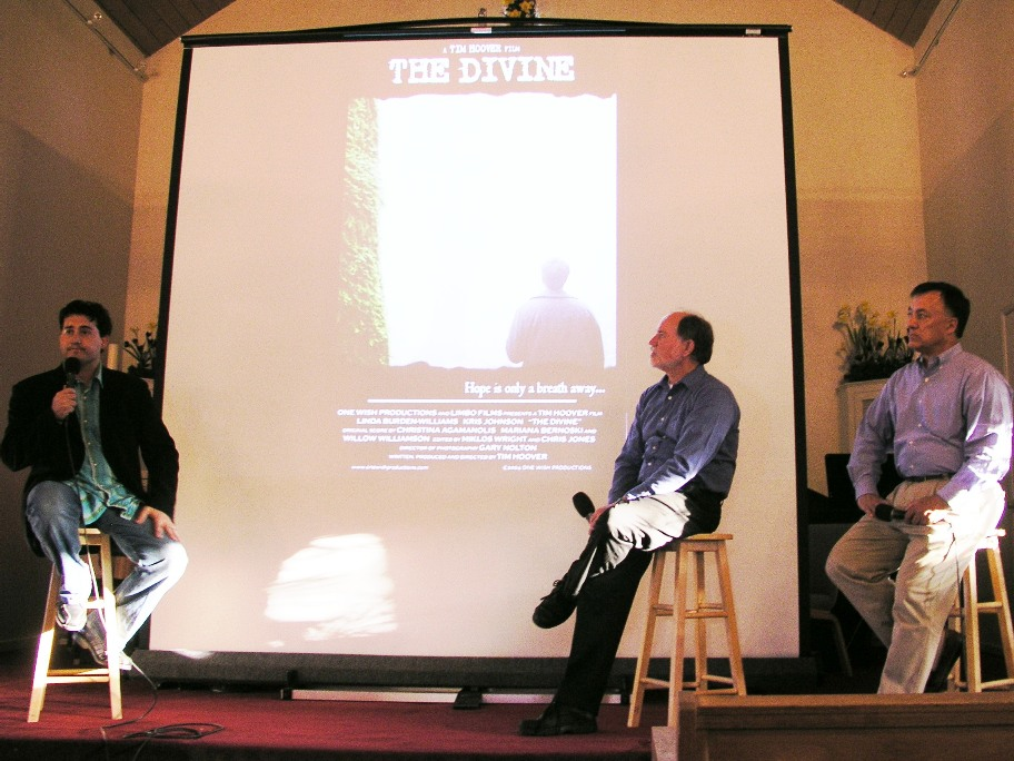 Pictured are Tim Hoover (Director of THE DIVINE), Denny and Hal.