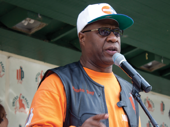 - We need to stop the killing of us by us. We need a peace movement in our communities. We're not going to stop riding until we see an end to violence and bring peace back to our streets.—MINISTER TONY MUHAMMAD,FOUNDER UNITED IN PEACE