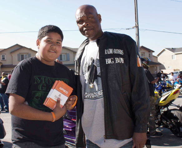 """- """"We want you to ride with us. Its time for us to really look out for what's going on in Los Angeles. Take the streets back. Nobody care about us but us. So it's only up to us to make sure that we really start to speak about peace.""""—BIG BOY, CO-FOUNDER UNITED IN PEACE"""