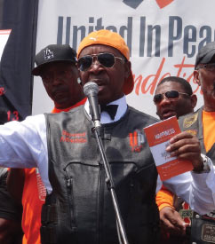 """- """"When people are involved and take the initiative to make our community better, then things actually turn around. As a result of the Peace Rides, crime is coming down.""""—REV. ALFREDDIE JOHNSON,CO-FOUNDER UNITED IN PEACE"""