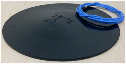 Figure 2: Triaxial seat pad accelerometer
