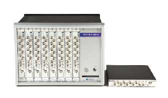 Spider-80X Machine Condition Monitoring System, configured in a 64 channel chassis above. The Spider-80X is scalable up to 128 channels.