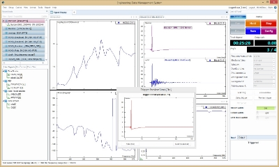Figure 25. Crystal Instruments Modal Analysis and Test software interface
