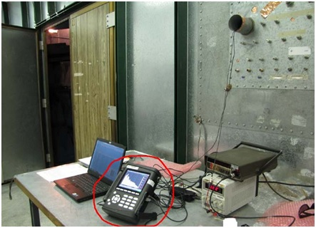 Test Equipment for monitoring Acoustic Emissions tests