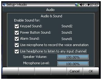 Figure 5. Audio Setting page