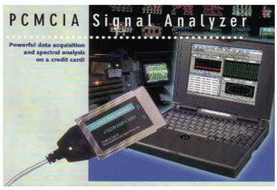 Figure 1. The World's Smallest Dynamic Signal Analyzer released in 1995. It is probably the first product using sigma-delta converters in this industry.