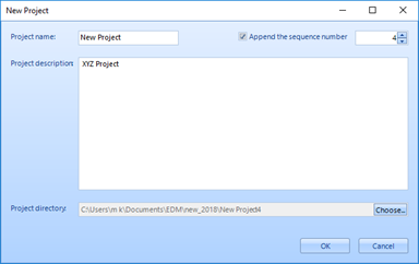 Figure 5. Create a New Project