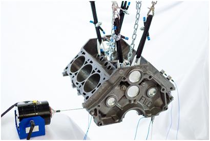 Figure 3. Engine Block MIMO Testing Setup
