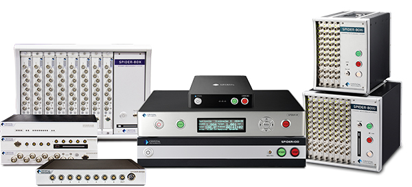 Spider Vibration Control Systems are modular and scale up to 512 channels - annual software updates available
