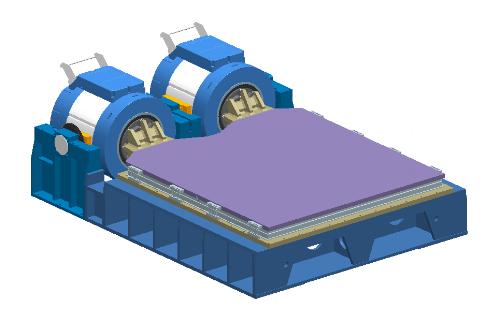 Figure 2. Horizontal push-push of dual shaker testing system