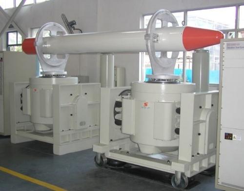 Figure 1. Vertical dual shaker testing system