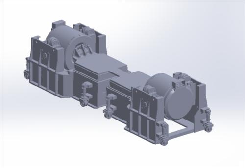 Figure 3. Horizontal push-pull of dual shaker testing system