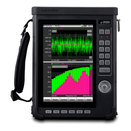 Click here to learn more about the  CoCo-80X Dynamic Signal Analyzer