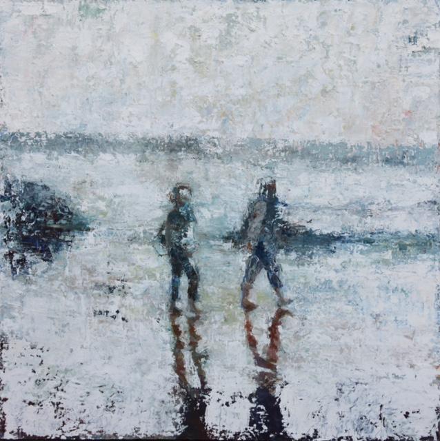 """Beachwalkers   oil   36""""x36"""""""
