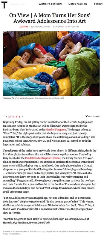 New York Times, T magazine, 09/20/2013