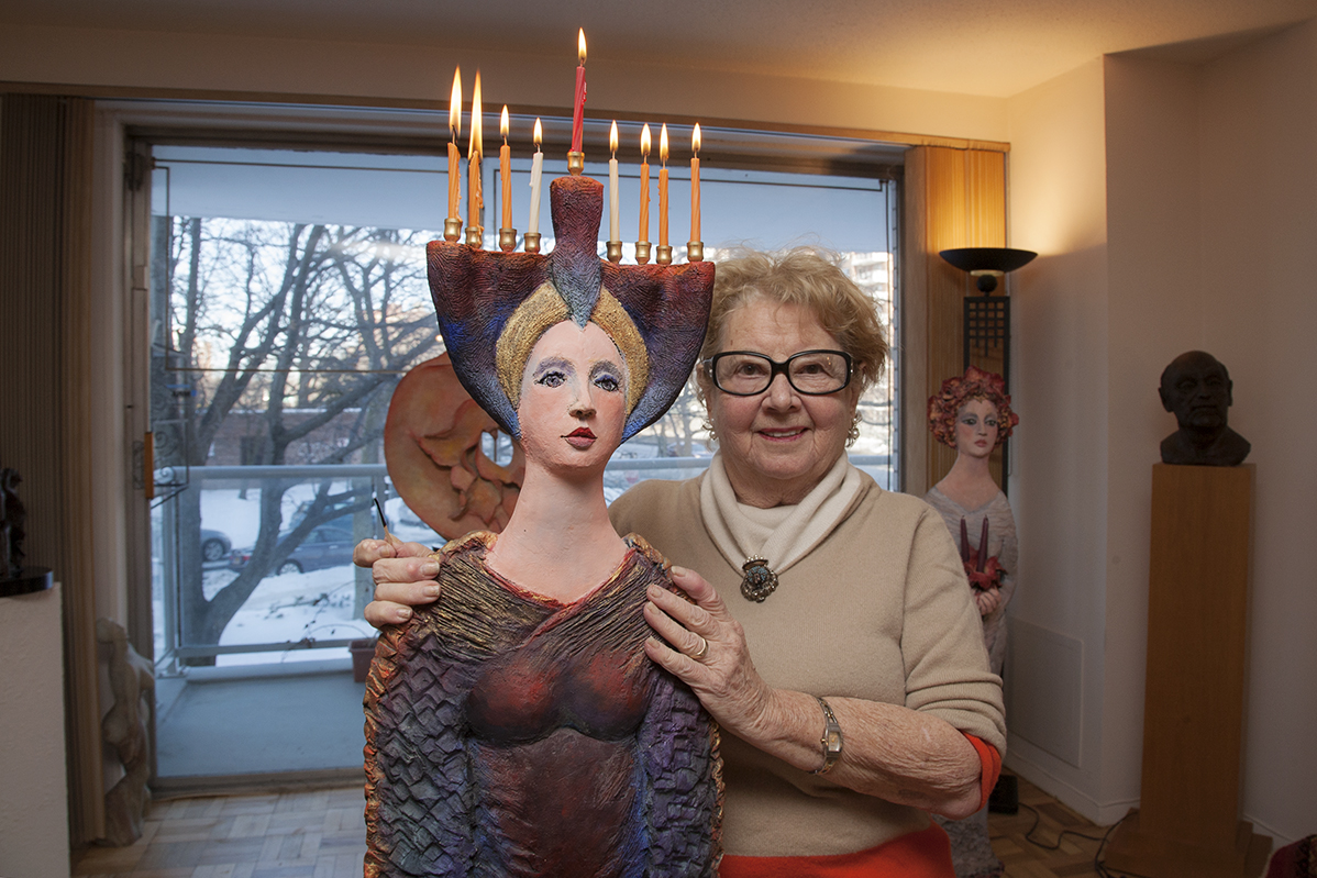 Harriett Belag has been creating 'functional' sculptures in The Br onx for 70 years. Bill Clinton acquired one of Harriett's works for the White House.
