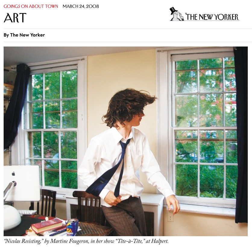 Solo show at PHH featured in The New Yorker, 2008.