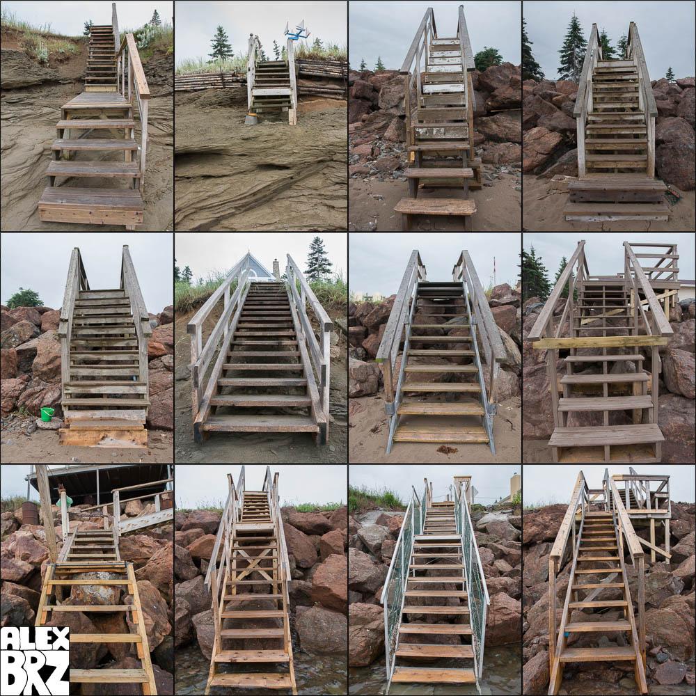 Cap Brulé Staircases -  2008/07/19 (6:22 - 6:50)